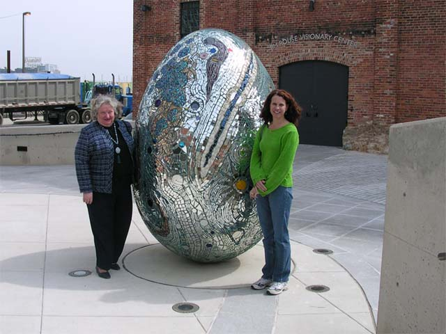 Zita and Lynda with Egg