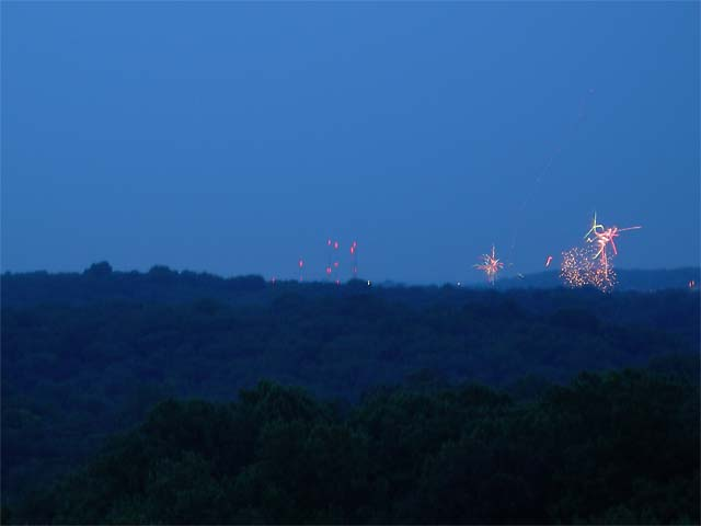distant fireworks