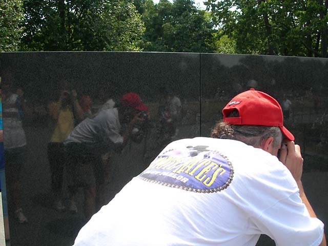 reflection at the Korean Memorial